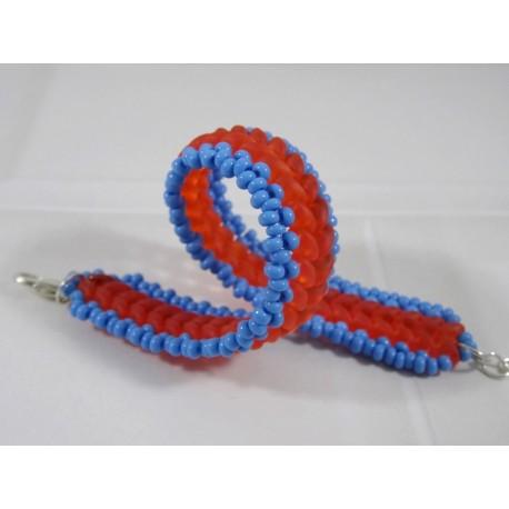 Bracelet Eclair Orange bleue