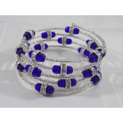 Tourbillon Bleu royal - Bracelet Fil Mémoire