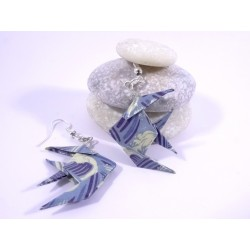 Boucles Poisson Origami vagues bleues