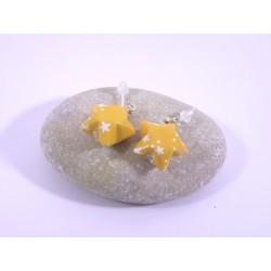 Boucles Origami Nova orange avec étoiles